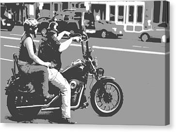 Harley Davidson Poster Canvas Print by Dan Sproul