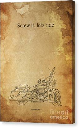 Harley Davidson Road King - Quote Canvas Print by Pablo Franchi