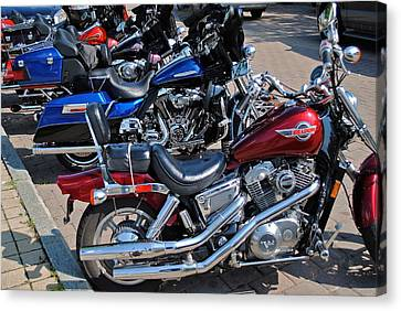 Two Wheeler Canvas Print - Harley Davidson by Frozen in Time Fine Art Photography