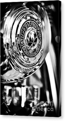 Harley Davidson Skull Casing Canvas Print by Tim Gainey