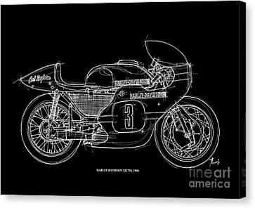 Harley Davidson Xr 750 1968 Canvas Print by Pablo Franchi