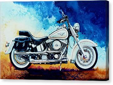 Harley Hog II Canvas Print by Hanne Lore Koehler