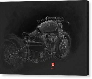 Harley Canvas Print by Jeremy Lacy