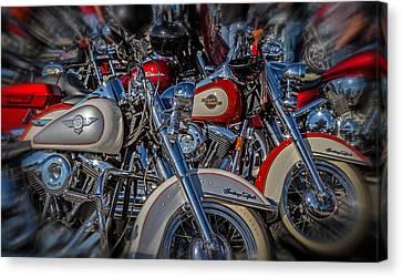 Harley Pair Canvas Print by Eleanor Abramson