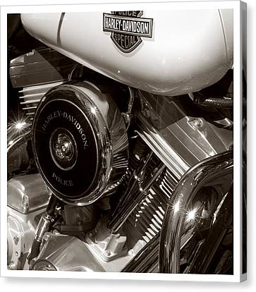 Harley Police Special Canvas Print by Jeff Leland