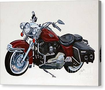 Harley Road King Canvas Print by Janet Felts