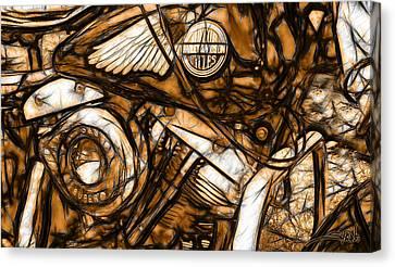 Harley Shovelhead Canvas Print