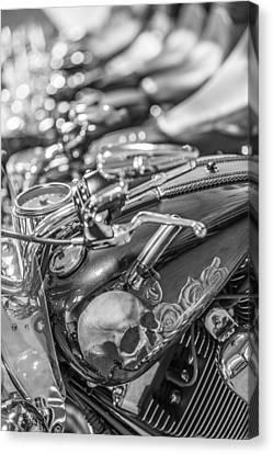 Harley Skull  Canvas Print by John McGraw