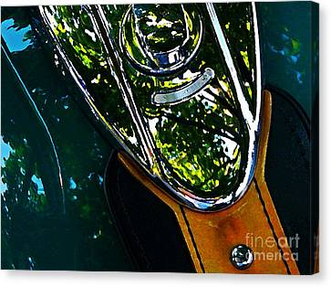 Harley Tank In Oils Canvas Print by Chris Berry