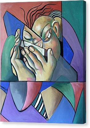 Harmonia Man Canvas Print by Anthony Falbo