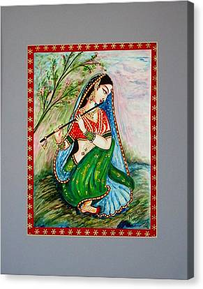Canvas Print featuring the painting Harmony by Harsh Malik