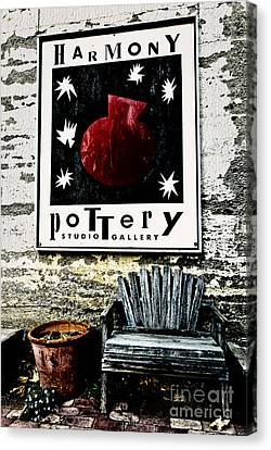 Canvas Print featuring the photograph Harmony Pottery by Terry Garvin