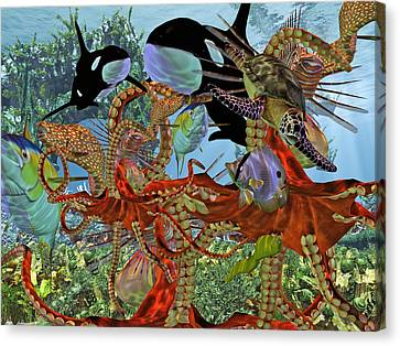 Harmony Under The Sea Canvas Print by Betsy Knapp