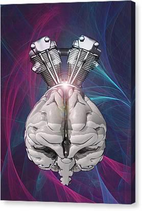 Harnessing Brain Power, Artwork Canvas Print