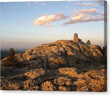 Harney Peak At Dusk Canvas Print