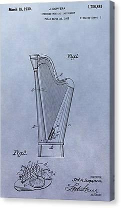 Harp Patent Canvas Print