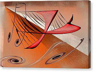 Harp Canvas Print by Rick Thiemke