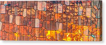 Harpa Sunset - Reykjavik Iceland Abstract Photograph Canvas Print by Duane Miller