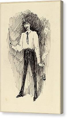 Harper Pennington, Portrait Of Whistler With A Paintbrush Canvas Print by Quint Lox