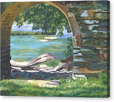 Harper's Arch Canvas Print by Lynne Reichhart