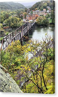 Csx Train Canvas Print - Harpers Ferry by JC Findley
