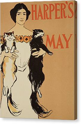 Harper's Magazine May Issue Canvas Print by Edward Penfield