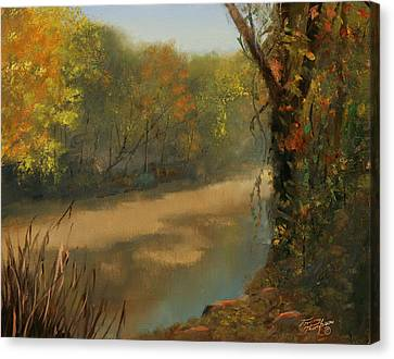 Carnton Plantation Canvas Print - Harpeth At Carnton by Tommy Thompson