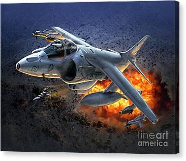 Harrier By Night Canvas Print by Stu Shepherd