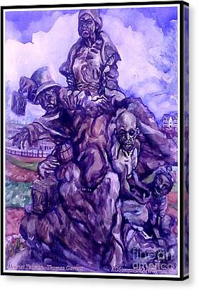 Harriet Tubman-underground Railroad-black Moses Canvas Print by Keith OBrien Simms
