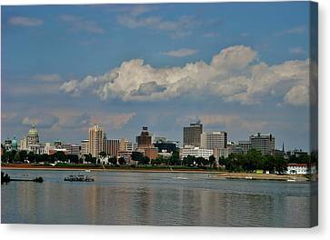 Harrisburg Skyline Canvas Print by Ed Sweeney