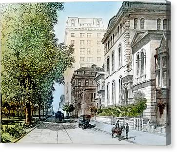 Harrison Residence East Rittenhouse Square Philadelphia C 1890 Canvas Print