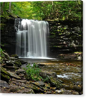 Harrison Wright Falls Canvas Print by Frozen in Time Fine Art Photography
