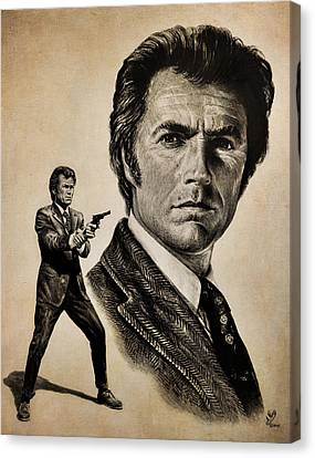Harry Callahan  Tan Version Canvas Print by Andrew Read