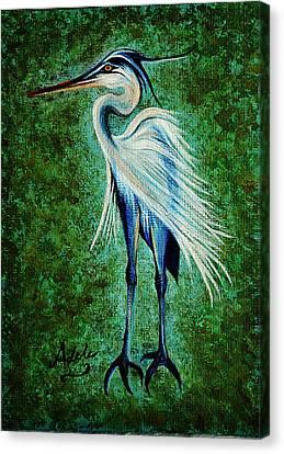 Harry Heron Canvas Print by Adele Moscaritolo