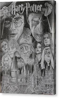 Harry Potter Montage Canvas Print by Mark Harris