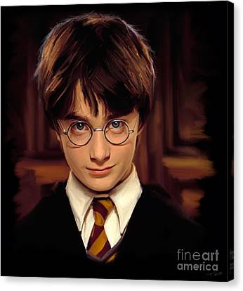 Shower Canvas Print - Harry Potter by Paul Tagliamonte