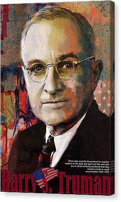 Harry S. Truman Canvas Print by Corporate Art Task Force