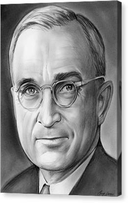 Harry S. Truman Canvas Print by Greg Joens