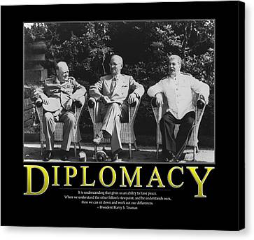 Harry Truman Diplomacy Canvas Print