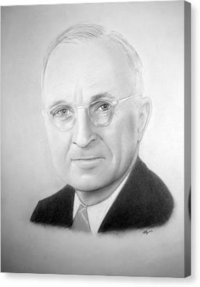 Harry Truman Canvas Print by Kendrick Roy