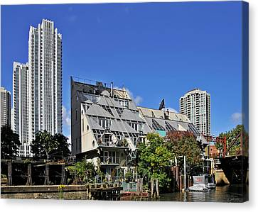 Harry Weese's Chicago River Cottages Canvas Print by Christine Till