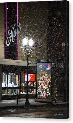 Hart In The Snow - Grants Pass Canvas Print by Mick Anderson