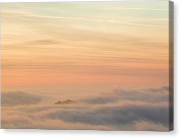 Harter Fell Above The Clouds Canvas Print by Ashley Cooper