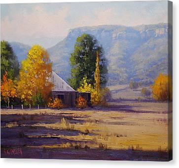 Hartley Autumn Canvas Print by Graham Gercken