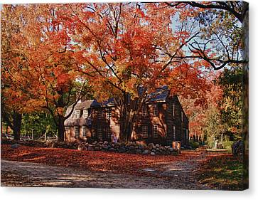 Canvas Print featuring the photograph Hartwell Tavern Under Canopy Of Fall Foliage by Jeff Folger