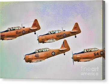 Canvas Print featuring the photograph Harvard Aircraft  by Cathy  Beharriell