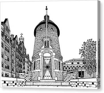 Harvard Lampoon Building Canvas Print by Conor Plunkett