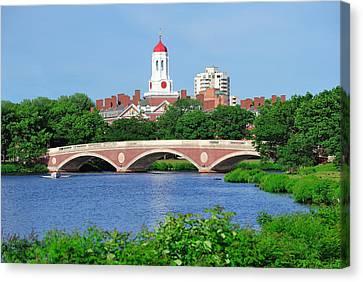 Harvard University Campus In Boston Canvas Print