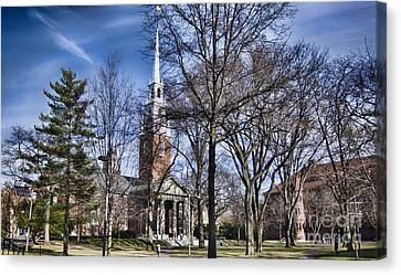 Harvard University Old Yard Church Canvas Print