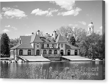 Weld Boat House At Harvard University Canvas Print by University Icons